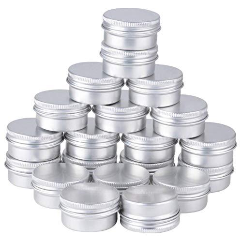 Fablcrew - Lote de 50 tarros de aluminio, bote de crema, 30 ml, contenedores de cosméticos vacíos para loción, crema, almacenamiento de maquillaje