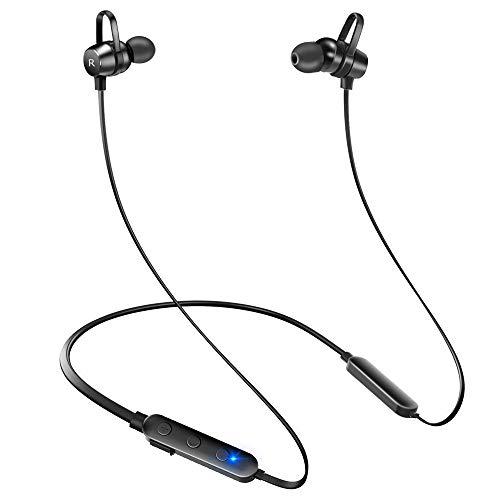 【12時間連続駆動】 Bluetooth イヤホン ワイヤレス イヤホン スポーツ イヤホン マグネット IPX7完全防水 Hi-Fi重低音 日本語音声操作 カナル型 ハンズフリー通話 マイク内蔵 ブルートゥース イヤホン iPhone/Android対応