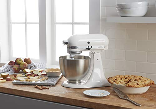 KitchenAid Classic Series 4.5 Quart Tilt-Head Stand Mixer, White (K45SSWH)