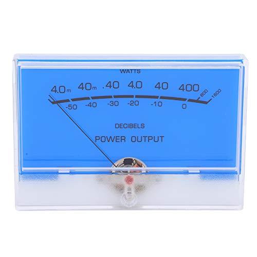 Jeanoko Indicateur de Niveau Amplificateurs de Puissance Audio à rétroéclairage Blanc Haute définition TN ‑ 105 ‑ S0518 VU mètre Durable pour Table de mixage