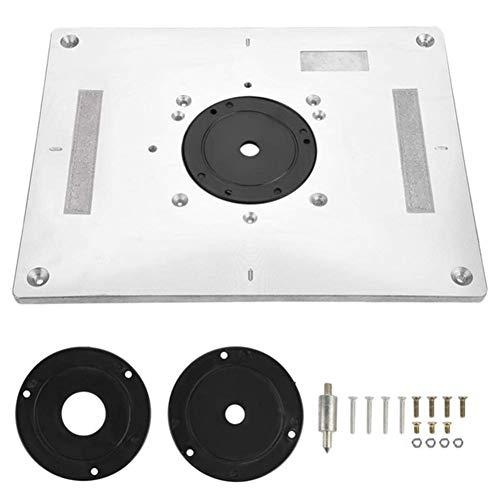 Herramientas mecánicas Multi-funcional de aluminio router Insertar tabla Placa de recorte máquina de grabado de la carpintería de banco Router Placa Promoción Herramientas manuales ( Color : Silver )