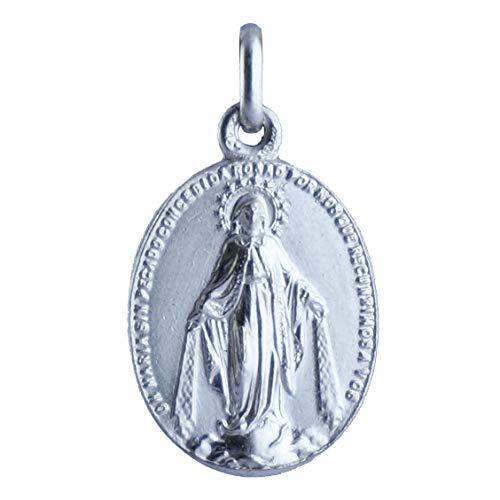 SACRE COEUR - Medalla de La Milagrosa | Reverso con Corazones | Plata Primera Ley