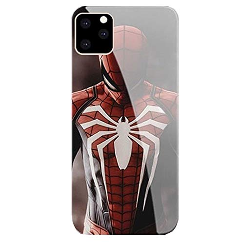 Spider Man Call Led Flash Luminescent Glass case for iPhone 7, 8, SE2, 7 8 Plus, 11 Pro Max, Xr, Galaxy S10 N10 S20 Plus, Marvel Theme Case Anti-Scratch Luxury Tempered Glass Cover (iPhone 7/8 Plus)