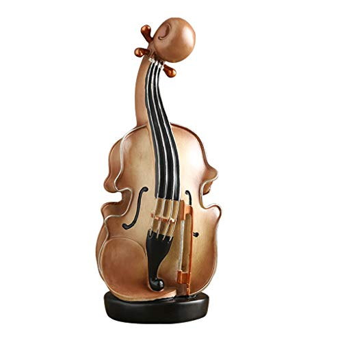 Hucha Modelo del violín hucha de dinero de banco de la resina del banco de moneda de escritorio de la decoración de Navidad caja de dinero de regalo for los muchachos de las muchachas for adultos Banc