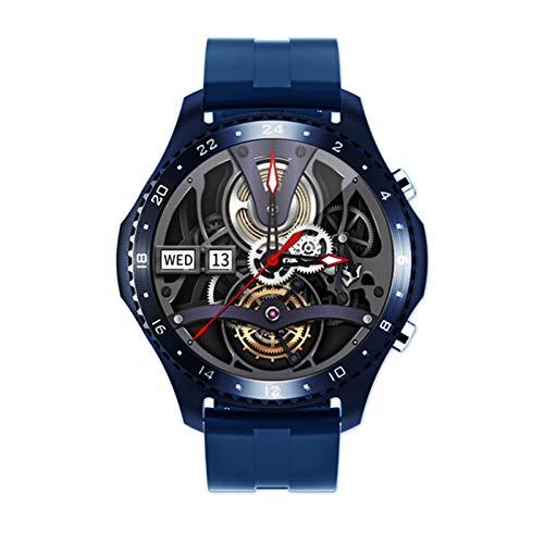 KKZ CK30 Smart Watch Temperatura Cuerpo Temperatura Bluetooth Llamada Monitor de Ritmo cardíaco Smart Watch Dial DIY Face IP67 Pulsera Impermeable,B