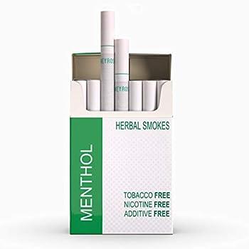 Honeyrose Menthol - Tobacco & Nicotine Free Herbal Cigarettes 100% Natural Made in England