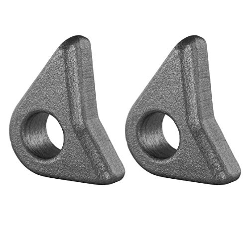 2 ojales, para placa de acoplamiento, orificio de 25 mm, acabado forjado, juego de ojal para entrada europea, carga frontal, ojal de gancho de acoplamiento, ojal de bloqueo, bloqueo