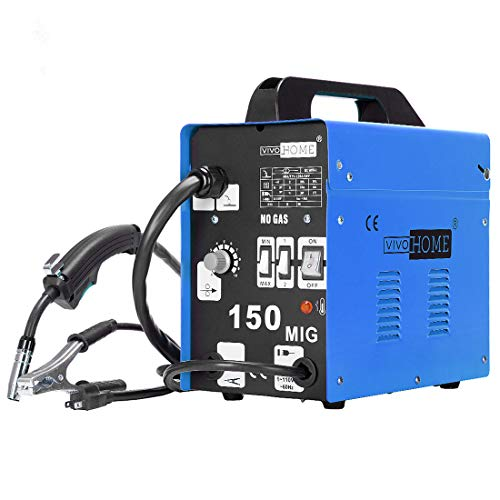 VIVOHOME Portable Flux Core Wire MIG 150 Welder Automatic Feed No Gas Welding Machine AC 110V 80-150A