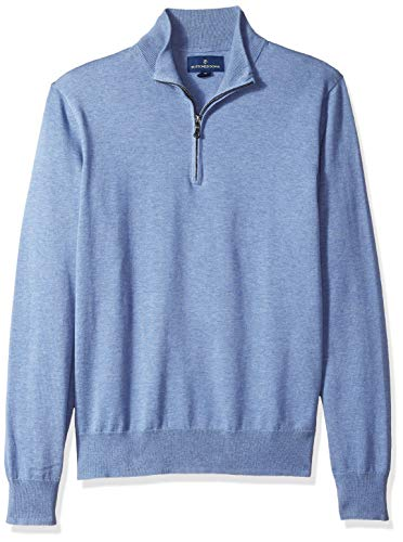 Mens Quarter Zip Cotton Sweaters