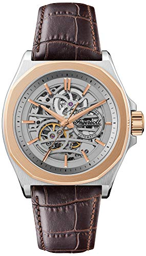 Ingersoll The Orville Automatic Mens Watch with Skeleton Dial and Brown Leather Strap I09301