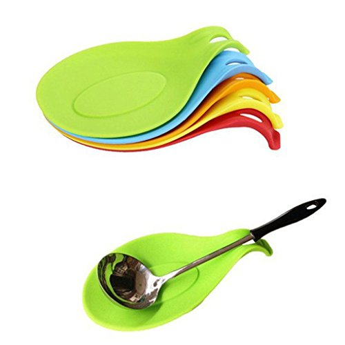 Flexible Silicone Heat Resistant Spoon Fork Mat by MERRY BIRD