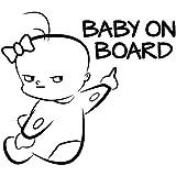 EROSPA® Auto-Aufkleber KFZ - Baby On Board - Car-Sticker
