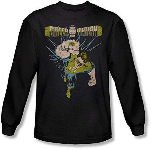 Green Lantern - - T-shirt manches longues puissant pour hommes, X-Large, Black