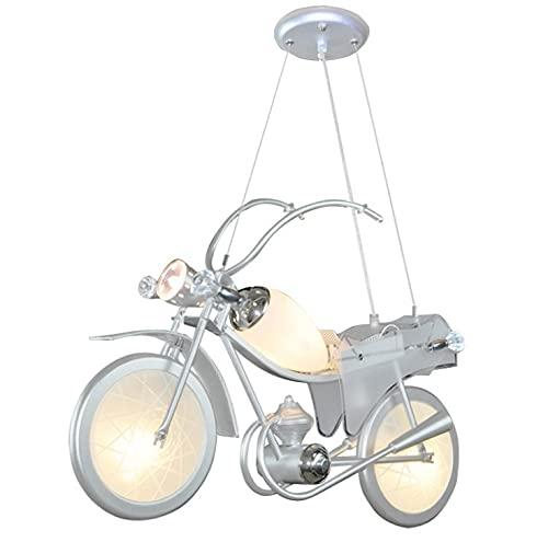 Raelf luz de la habitación colgando del techo del hierro de la lámpara moderna de la personalidad infantil de bicicletas colgante Niños luz de la lámpara colgante de dibujos animados de habitaciones c