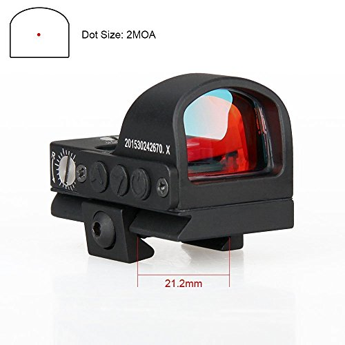 E.T Dragon Mini Compact 2 moa Red Dot Sight for Pistol Glock Shotgun or Rifle for Shooting Hunting