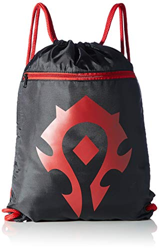 World of Warcraft - Bolso de Cuerdas, Negro/Rojo, 46 x 36 cm