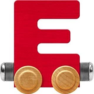 Maple Landmark NameTrain Bright Letter Car E - Made in USA (Red)