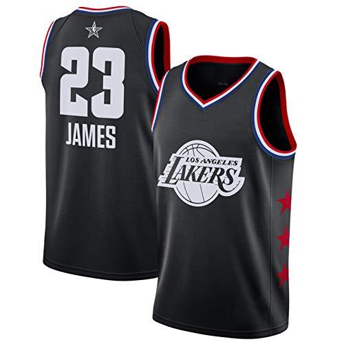 GHYTR Jǎmës 23# Jerseys Bordado lâkêr Jersey Juventud de Baloncesto Práctica Tops Cómodo Material Transpirable Hombre S