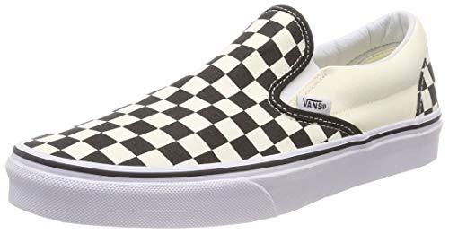 VANS Classic Slip-On Checkerboard, Zapatillas Unisex Adulto, Blanco (White and Black Checker/White), 36.5 EU