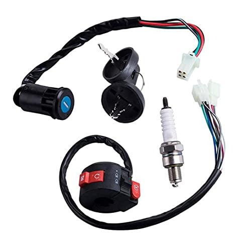 Naisicatar Linkstarterschalter Taste 4 Drahtmotorradzündung Für 50cc 70 CCM 90cc 110 CCM 125cc 150cc