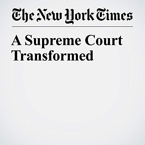 A Supreme Court Transformed audiobook cover art