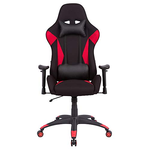 Gaming Chair High Back Office Chair Racing Style Reclining Computer Desk Chair Swivel Task Chair with Lumbar Support Headrest,Red