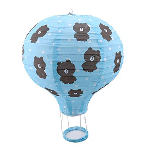 SEVENHOPE Heißluftballon Papierlaterne Laternen wünschen Weihnachten Geburtstag Hochzeit Dekoration Versorgung Geschenk (Stil 3)