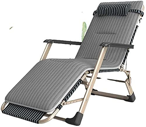 LUFISH Sillones al Aire Libre, sillón, sillón, Plegable en Comedor, Cama Individual, Silla Perezosa, Plegable al Aire Libre Casual-Chaise Longue (Color : A)