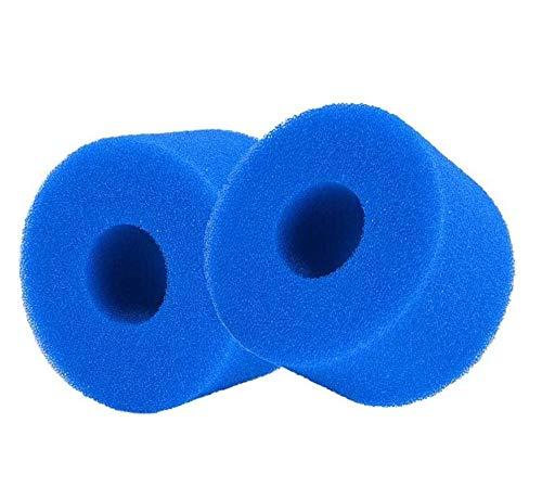 ConPush 2 Stück Schwimmbad Filter Schaumpatronenschwamm für Intex S1, Schwimmbad Schaum Filter Waschbare Patronenschwamm Geeignet Für Schwimmbecken