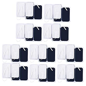 TENS Unit Pads 40 Pcs 2x3.5 Inches TENS Unit Replacement Pads Large Rectangular Electrodes Pads for Electrotherapy EMS Massager