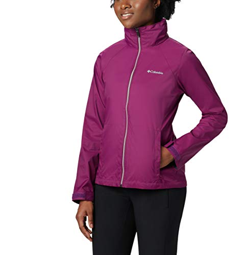 Columbia Women's Switchback III Adjustable Waterproof Rain Jacket, Dark Raspberry, Medium