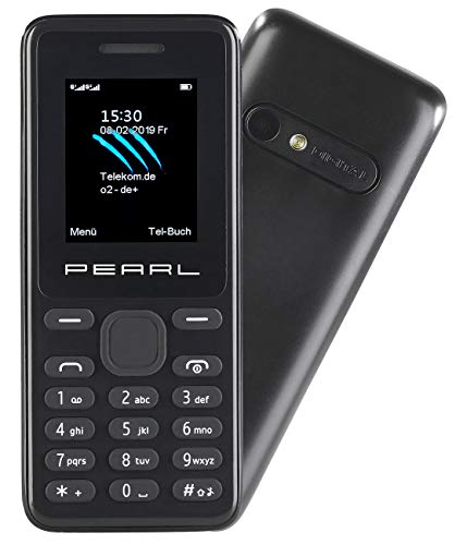 simvalley MOBILE Telefon: Dual-SIM-Handy mit Kamera, Farb-Display, Bluetooth, FM, vertragsfrei (Mobiltelefon)