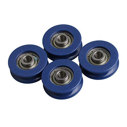 CNBTR Rueda de guía de rodamientos de plástico azul...