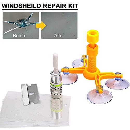 Randalfy Auto Reparaturset für Windschutzscheiben,Windschutzscheiben Reparaturset Werkzeug, Windschutzscheibenwerkzeuge/Windshield Repair Kit für PKW Chip und Crack