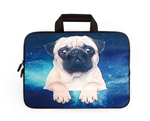 11' 11.6' 12' 12.1' 12.5' inch Laptop Carrying Bag Chromebook Case Notebook Ultrabook Bag Tablet Cover Neoprene Sleeve Fit Apple Macbook Air Samsung Google Acer HP DELL Lenovo Asus (Starry Sky Pug)
