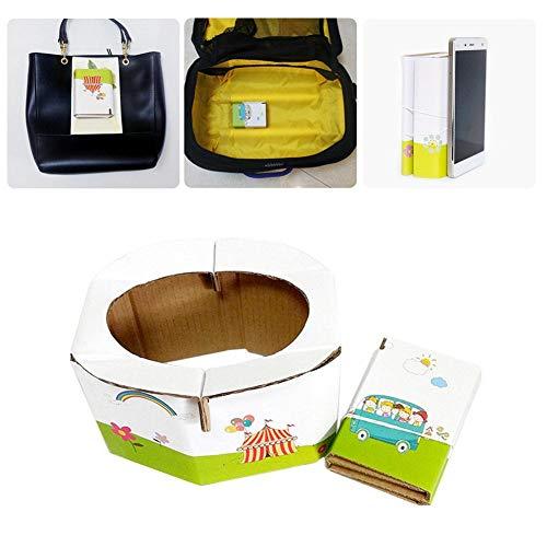 Orinal para bebé, de viaje, de papel, plegable, para emergencia, para viajes, coche, exterior, camping, con 5 bolsas