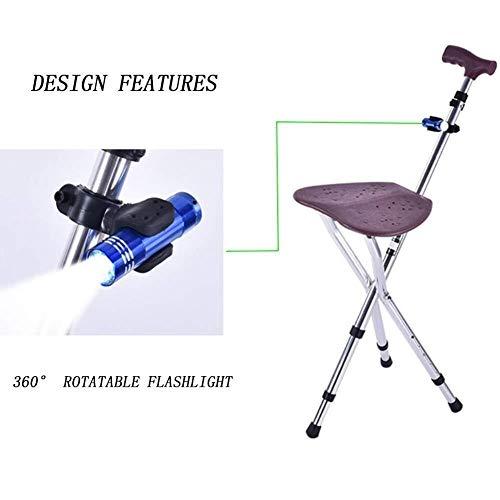 Andadores para discapacidad Andador para Ancianos Ajuste de la Altura/estático Cargando 150Kg Antideslizante Bastón Rollators Cosy Caminar con palillo de Asiento
