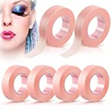 6 Rolls Lash Tape Beauty Eyelash Tape Breathable Micropore Fabric Tape for Lash Extensions Supplies Individual Eye Lashes Tools, 0.5 inch x 10 Yards (Pink)