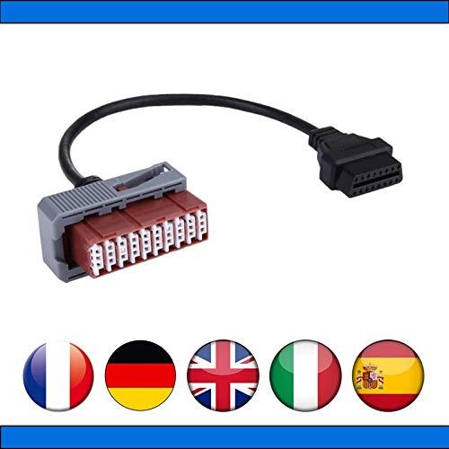 MISTER DIAGNOSTIC Kabel OBD2 auf 30 Pins für Peugeot Diag Box Lexia PP2000
