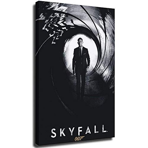 007 Skyfall Leinwand-Kunst-Poster und Wand-Kunstdruck, modernes Familienschlafzimmer, Dekoration, Poster, 20 x 30 cm, ohne Rahmen, 20 x 30 cm