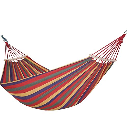 Gifftiy Hangmat Stand Heavy Duty Outdoor Hangmat Met Stand 2 Personen Outdoor Camping Hangmat Houten Stick Hamak Tuin Hangstoel Verdikking Verbrede Dubbele Meubels Rood
