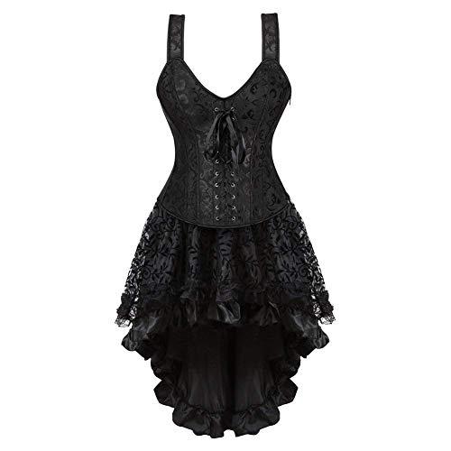 NOSSON Unterwäsche für Frauen, Young Fashion Shaping Corsage Körperfarbe Kleid Schwarz Simple Style Long Petticoat Women