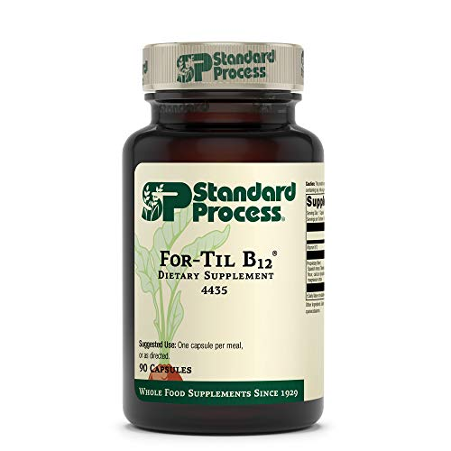 Standard Process for-Til B12 - Whole Food Vitality, Blood Sugar Support, and Immune Support with Tillandsia, Calcium Lactate, Ascorbic Acid, Spanish Moss, Wheat Germ, Oat Flour - 90 Capsules