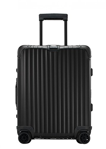 RIMOWA Topas Stealth Koffer für Handgepäck, 53,3 cm, mit mehreren Rädern, IATA, Schwarz