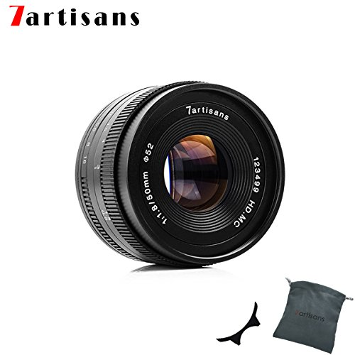 Factory Direct 7artans F1.8 APS-C - Lente de Enfoque Manual, 50 mm, para cámaras compactas sin Espejo, Canon M1, M2, M3, M5, M6, M10, EOS-M, Color Negro