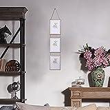 Barrageon Marcos de Fotos Multiples 3 Fotos 12.7 x 17.8 cm Triple Conjunto Múltiple Decorativo Colgante de Pared Colgar Decoración del Hogar Regalo - Vertical
