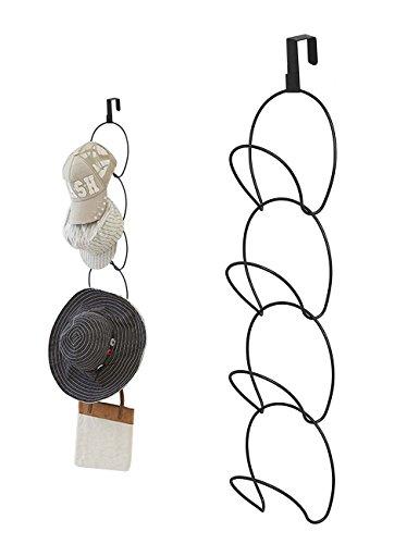 Yoassi Cap Halter Einstellbare Abnehmbar Huthalter für Caps/Hüte/Tücher/Schals/Handtasche Platzsparend Kappensammlung Schranktür/Wand/Badezimmer