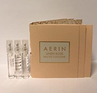 3 Aerin Linen Rose Eau De Cologne Sample Spray Vial Travel 1.5 ml/0.05 oz for Women