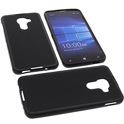 foto-kontor Tasche für Alcatel One Touch Idol 4 Pro Gummi TPU Schutz Handytasche schwarz
