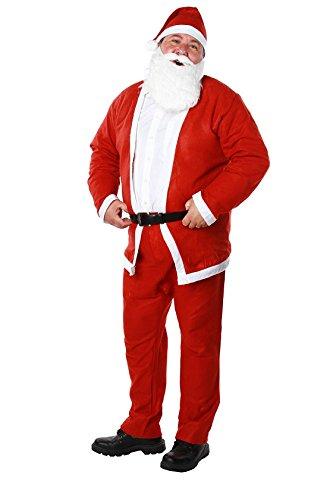 DC Costume Deguisement Pere Noel - 5 Pièces -Feutrine